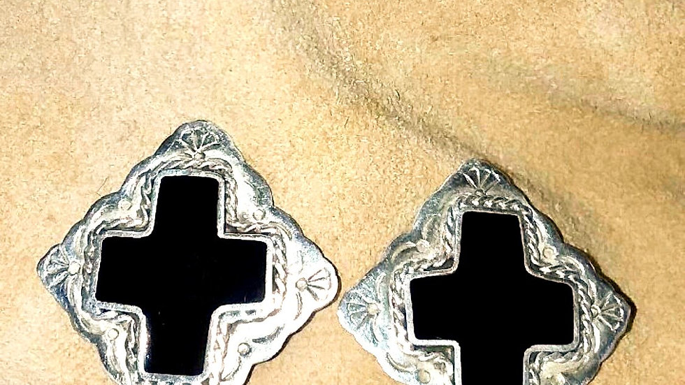 Vintage Mexican Silver Earrings