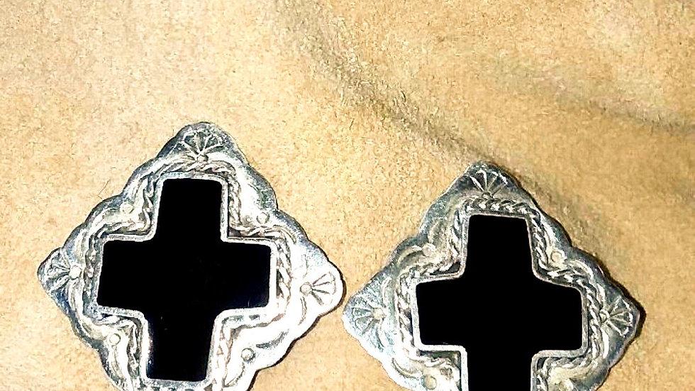 Vintage Mexican Silver Earrings