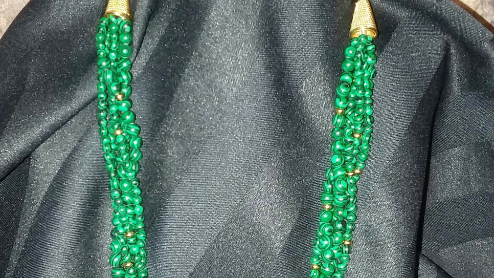 5 Strand Malachite Necklace