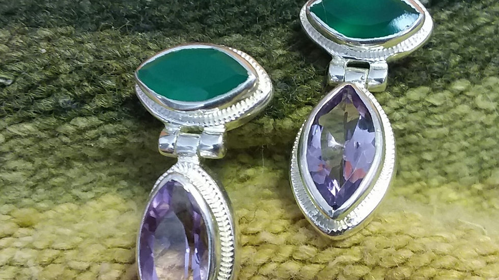 Natural Namibian Emerald Earrings