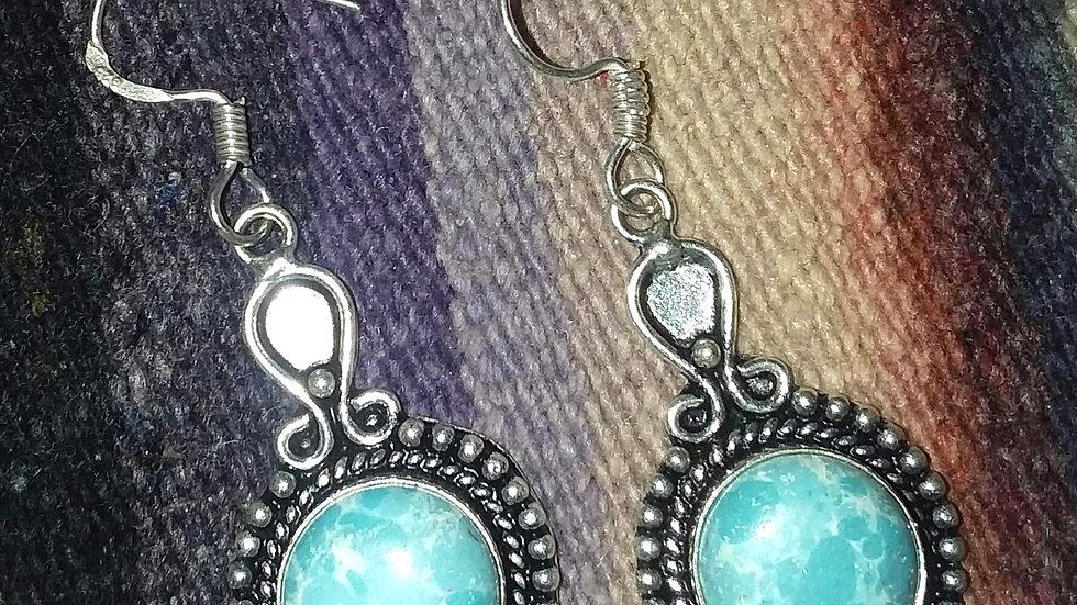 Larimar Sterling Earrings