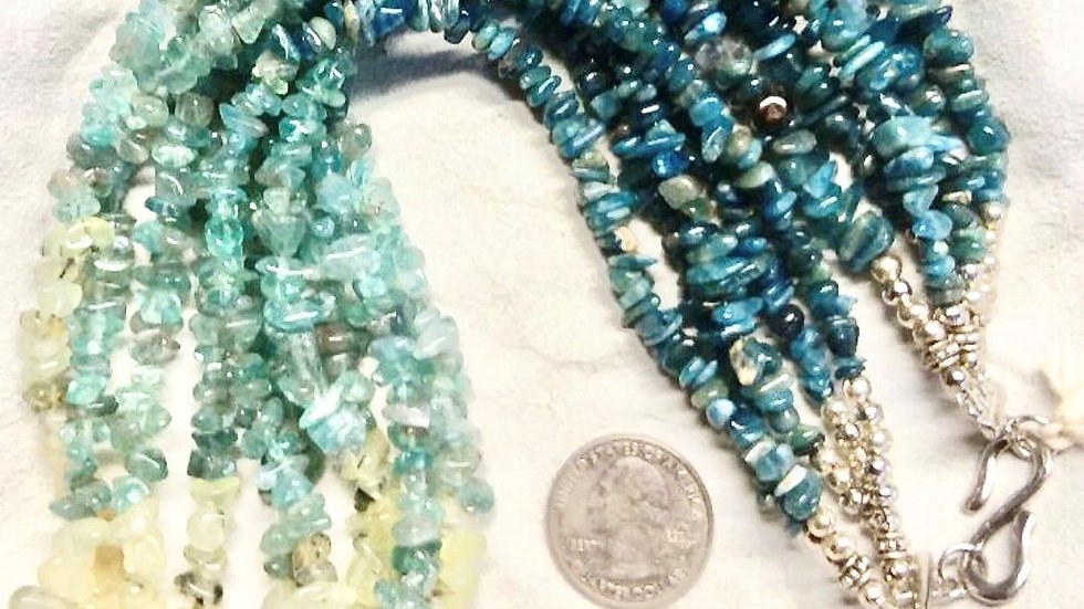 Natural Stone Necklace/Earring Set