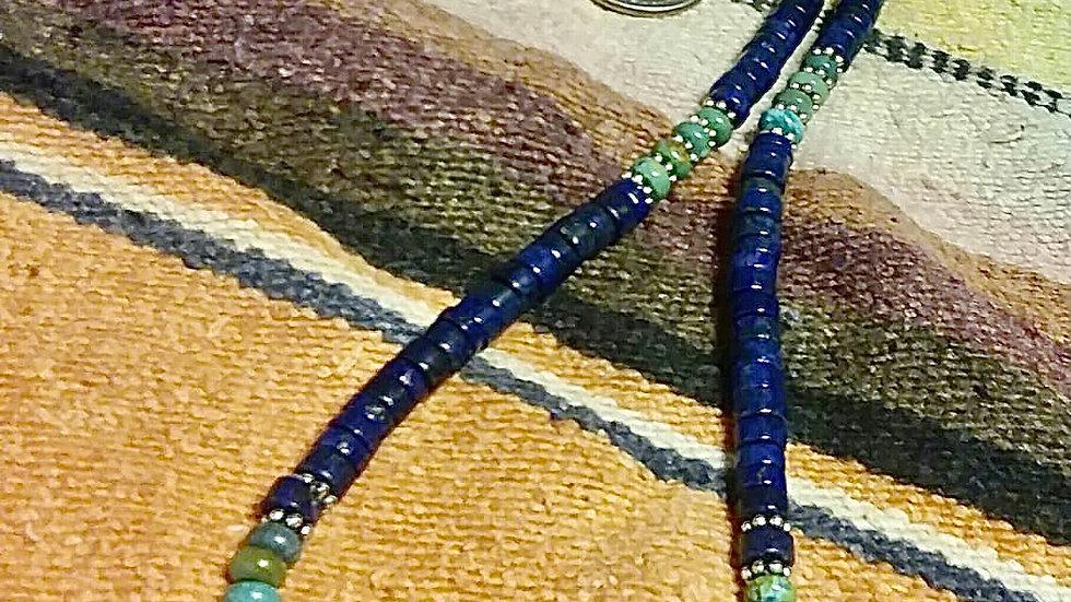 Royston Turquoise and Lapus Lazuli Necklace