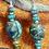 Thumbnail: Kingman Turquoise Necklace/Dead Pawn Pendant & Earring Set