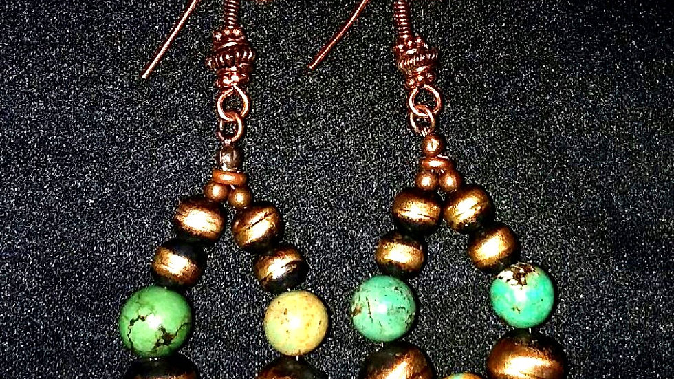 JCK and Royston Turquoise Earrings
