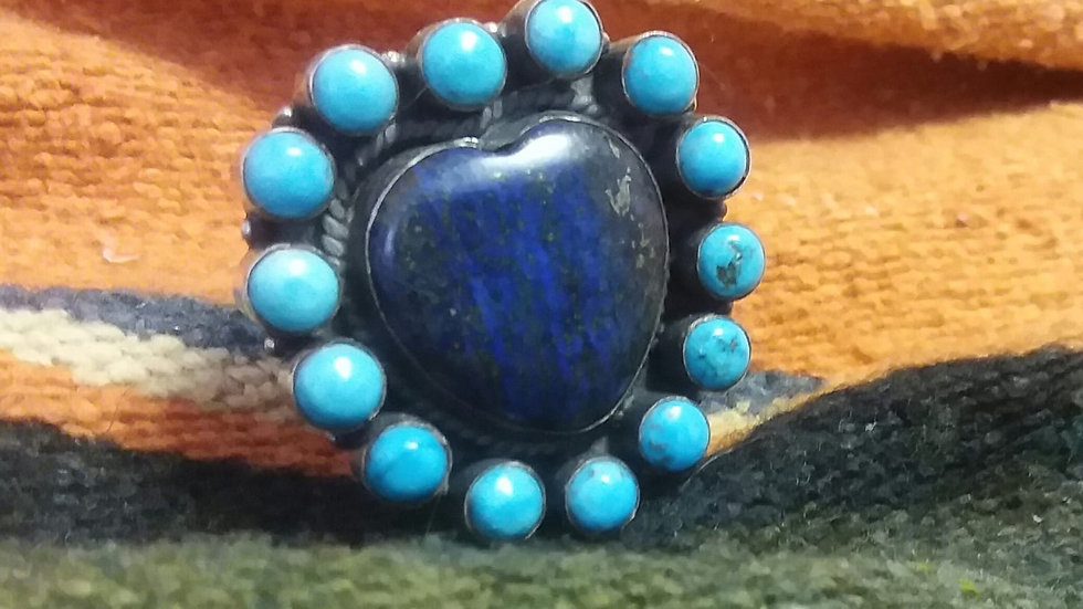 Dead Pawn Lapis & Turquoise Ring