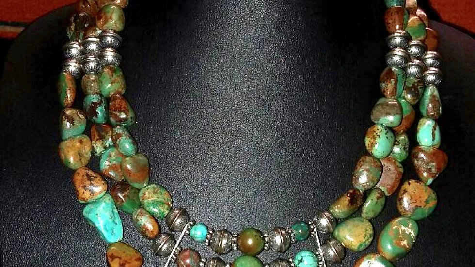 Royston Turquoise 3-Strand Necklace