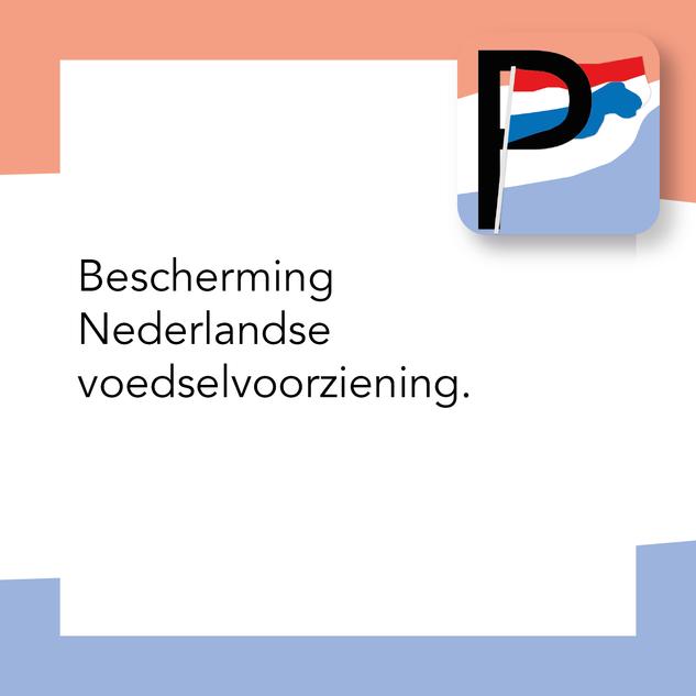 Bescherming Nederlandse voedselvoorziening.
