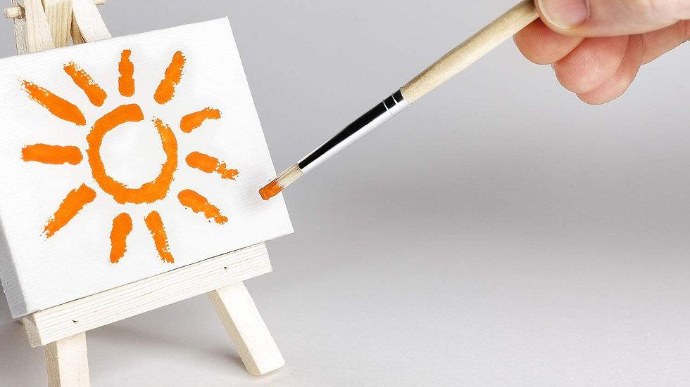 12pcs DIY Kids Painting Mini Canvas Set (3 Inch)