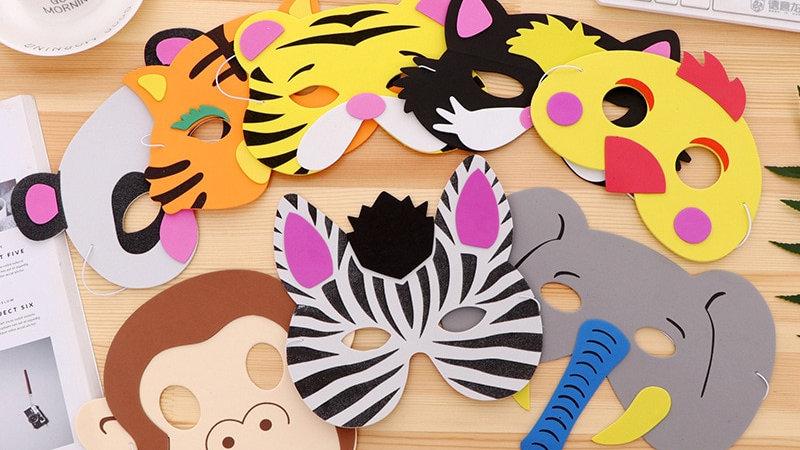7PCS DIY Animal Masks Children