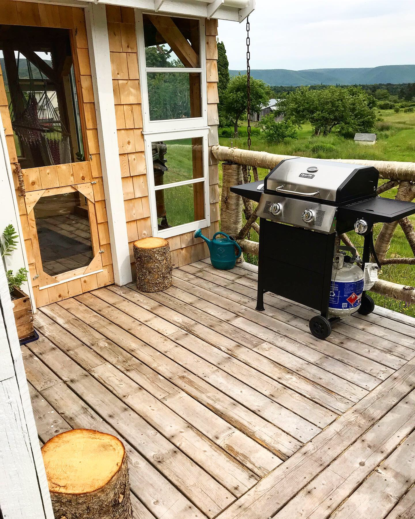 BBQ on deck next to Sunroom