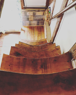 Stairs down from Loft