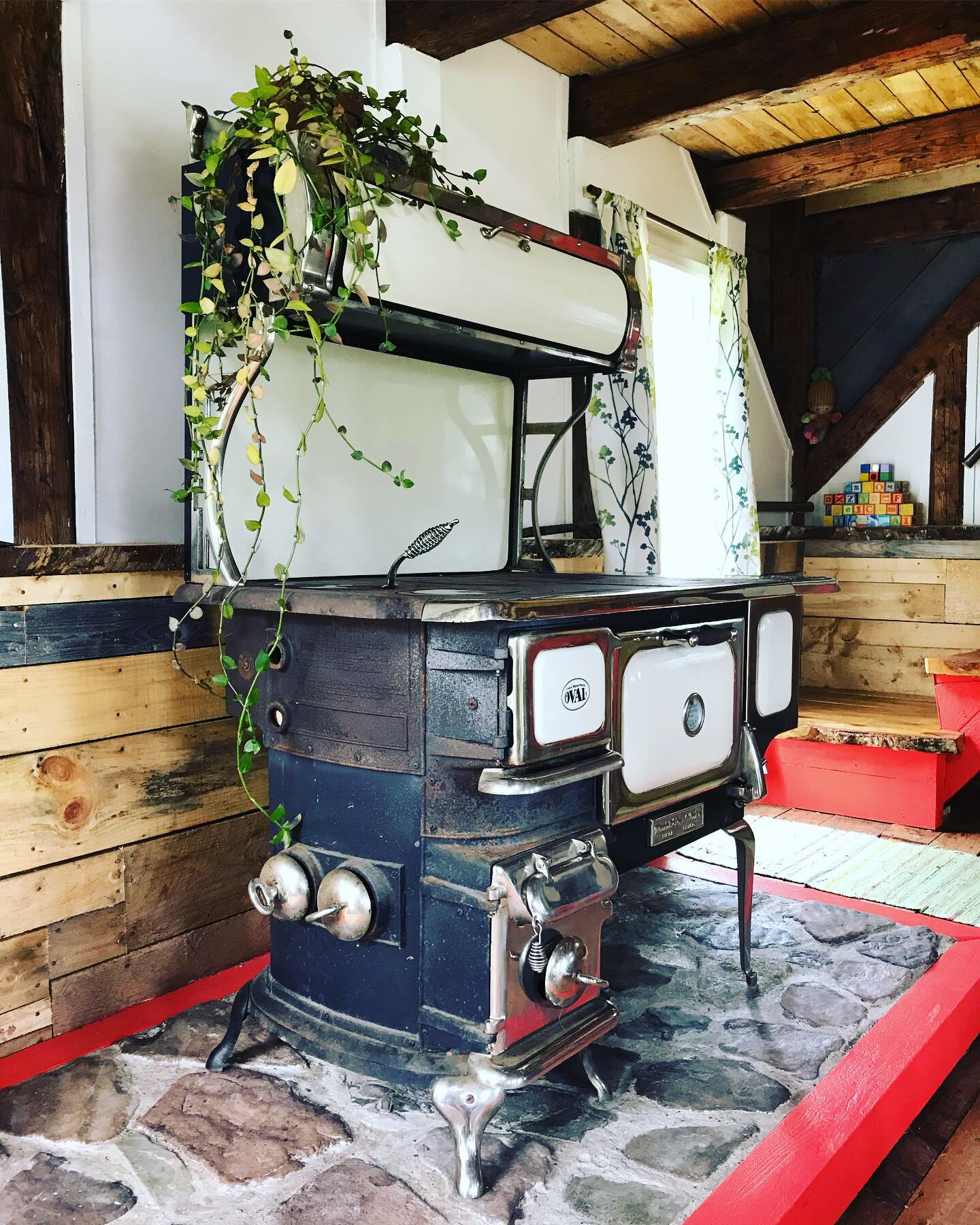 Wood stove in Cabin