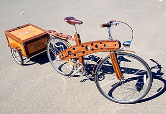Bicycle and Trailer by artist Brian Poletz