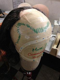 Deep Front Theatrical Wig