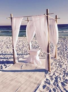 $25 Sand white Ceremony Table Sash