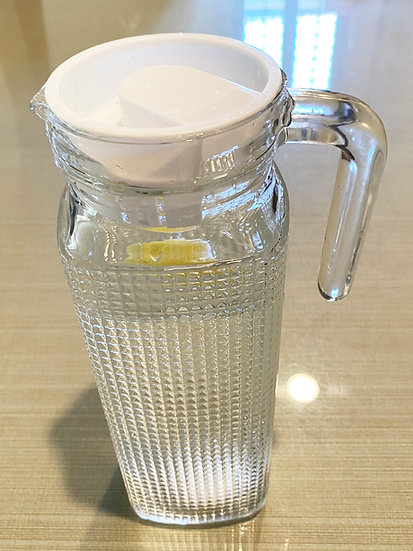 GLASS WATER PITCHER-1000 ML ,ITEM#00800580, 玻璃水瓶(2 PCS)