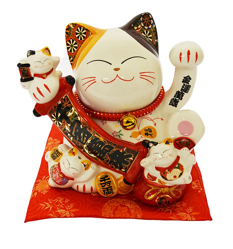 "#808442 LUCKY CAT( PIGGY BANK)-10"" (86112) 招財貓錢罐(1 PCS)"