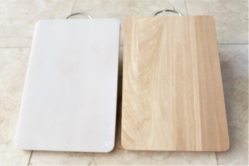 DOUBLE SIDE CUTTING BOARD-35x25 CM, ITEM#008003121,雙面切菜板(1 PCS)