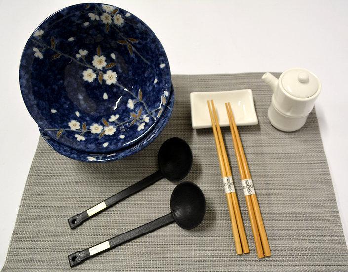 8-PIECES JAPANESE BOWLS COLLECTION/RAMEN NOODLE BOWLS,  ITEM# AH028-8,日本瓷碗套裝組合