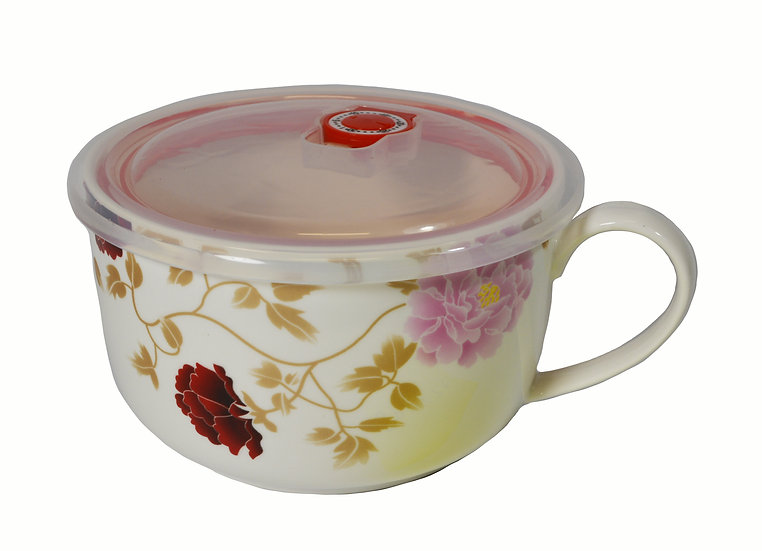 """CERAMIC CUP WITH LID FOR KID - 6"""",  ITEM#  00802175, 小朋友的水杯帶蓋"""