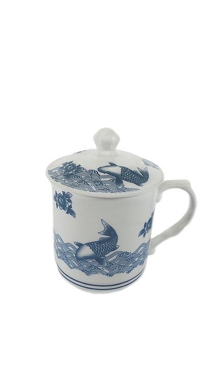 #802943 TEA CUP-FISH-L 魚大號茶杯帶蓋(24 PCS)