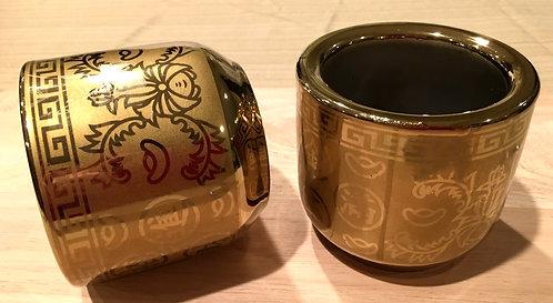#804121 JOSS STICK POT-L 銻金香爐-金玉滿堂/招財進寶( 6 PCS)