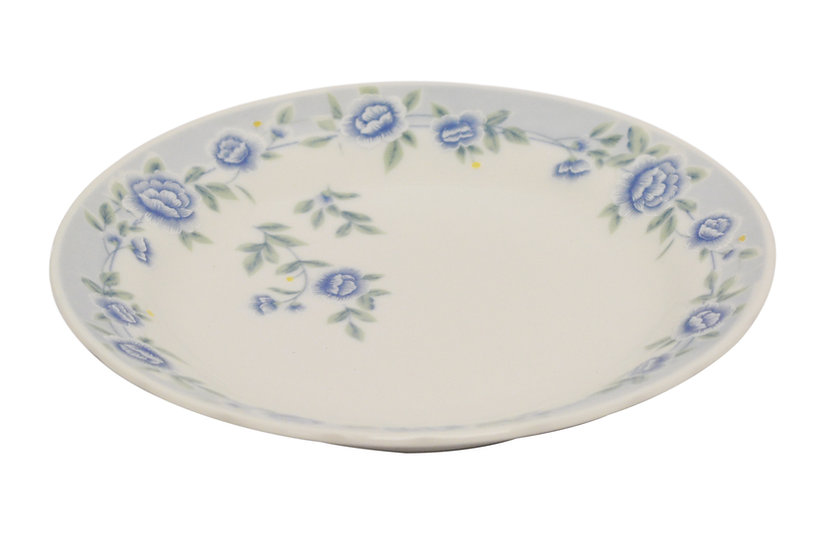 "9"" CERAMIC  DINNER PLATES,ITEM#00802318, 日常瓷盤-藍牡丹(6 PCS)"
