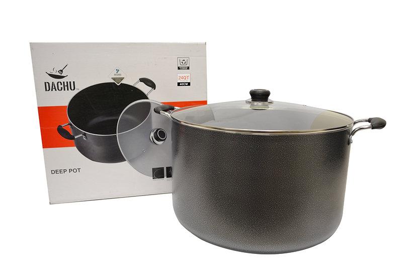 NON-STICK COOKING POT - 24 QT ,ITEM#00800027,不沾雙耳湯鍋