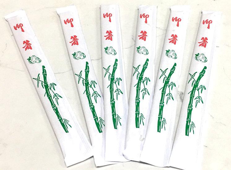 NATURAL DISPOSABLE BAMBOO CHOPSTICKS-23CM, 100 PAIRS, ITEM# 801857, 竹筷 100 雙