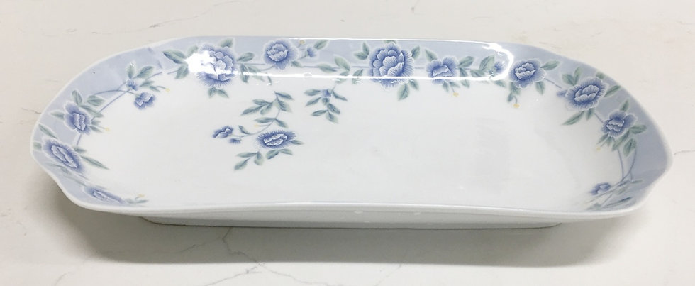 "CERAMIC DINNER PLATE 11"", ITEM#00802325, 日常瓷盤-藍牡丹(3 PCS)"