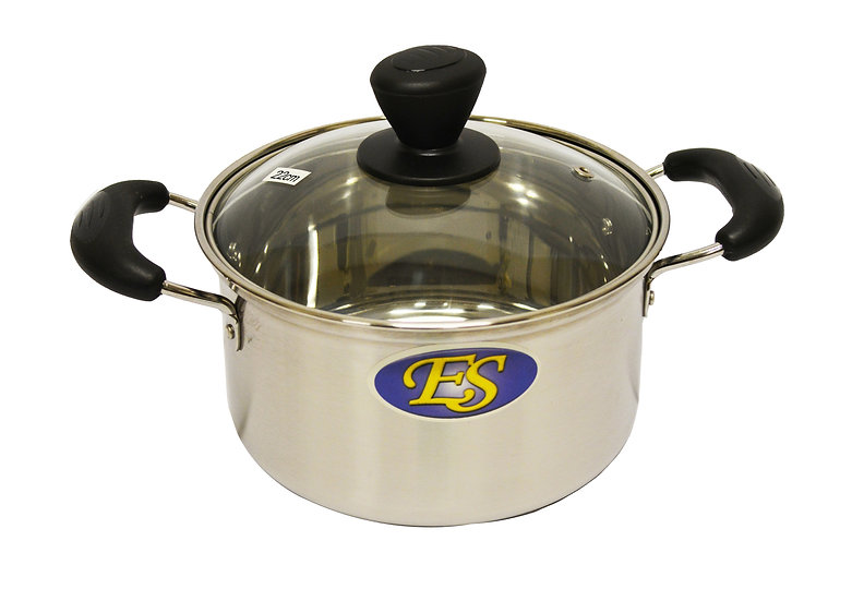 22CM  STAINLESS STEEL COOKING POT,ITEM#00800167,不銹鋼湯鍋