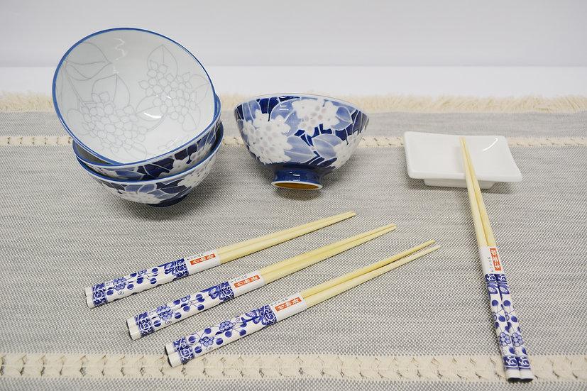 9 PIECES JAPANESE BOWLS COLLECTION/DINNER BOWLS, ITEM# AG031-9, 日本瓷碗/飯碗