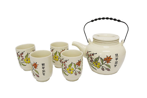 #802234 TEA SET 陶瓷 茶壺茶杯套組