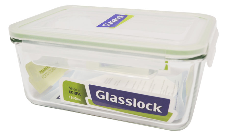 1900 ML GLASS LOCK/FOOD STORAGE CONTAINER, 2PCS, ITEM# RP-517,  便當盒 2 個