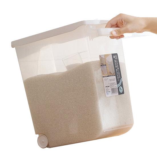 RICE BUCKET 15 KG,   ITEM# 00805213,   塑膠米桶
