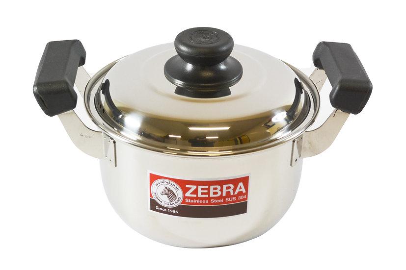 26CM  ZEBRA STAINLESS STEEL COOKING POT,  ITEM#  00800294,   不銹鋼湯鍋