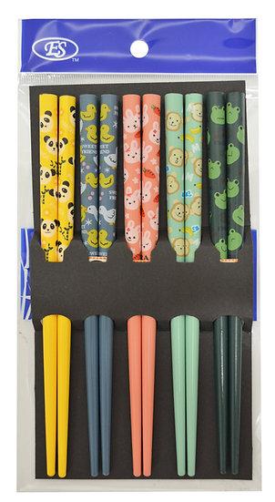 JAPANESE KIDS BAMBOO CHOPSTICKS, 10 PAIRS, ITEM# 801848, 兒童竹筷 10 雙