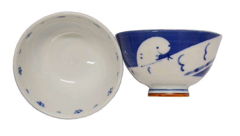 JAPANESE ETO RICE  BOWL , ITEM#AG-006, 日本瓷碗 (4 PCS)