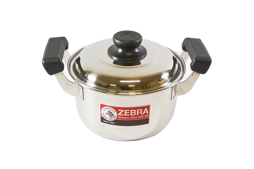18CM  ZEBRA STAINLESS STEEL COOKING POT,ITEM#00800290,不銹鋼湯鍋