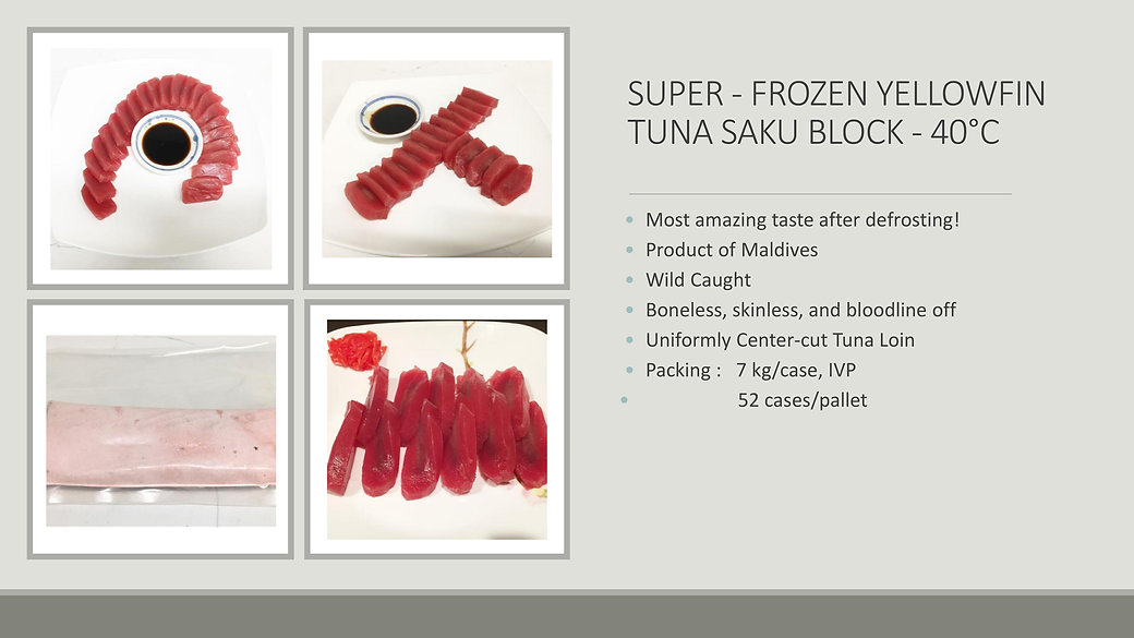 SUPER-FROZEN TUNA SAKU BLOCK