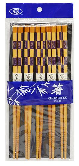 JAPANESE BAMBOO CHOPSTICKS,ITEM#00801838, 日本竹筷(5 PAIRS/PACK)