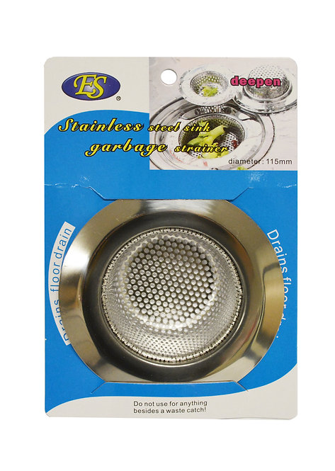 #801542 STAINLESS STEEL PUNCH HOLE SINK STRAINER-11.5 CM  不鏽鋼寬邊漏網/深