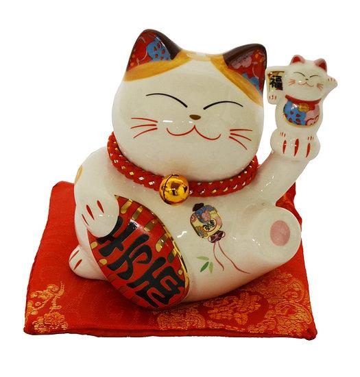 "LUCKY CAT  3"" PIGGY BANK(35316),ITEM#00808415,招財貓錢罐"