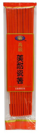 RED MELAMINE CHOPSTICKS, 10 PAIRS, ITEM# 801832, 美耐皿筷-紅 10 雙