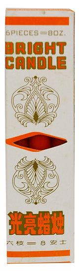 JOSS CANDLE - 6 PCS/BOX , ITEM#00804100, 紅燭(4 BOXES)