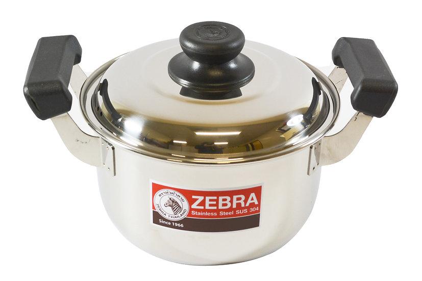 28CM  ZEBRA STAINLESS STEEL COOKING POT,  ITEM#  00800295,   不銹鋼湯鍋