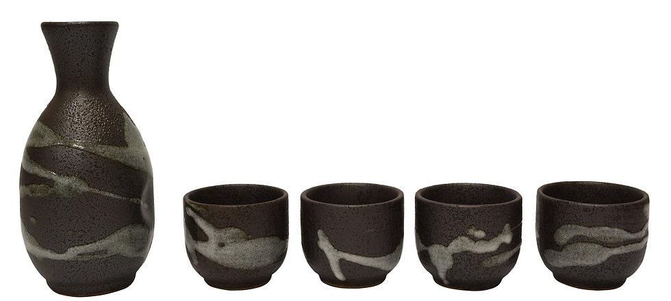 JAPANESE SAKE SET,  ITEM#  J32717-305,    日本清酒杯具