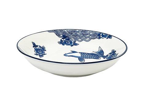 "#802913  DEEP PLATE-FISH-9"" 魚深盤 (6 PCS)"