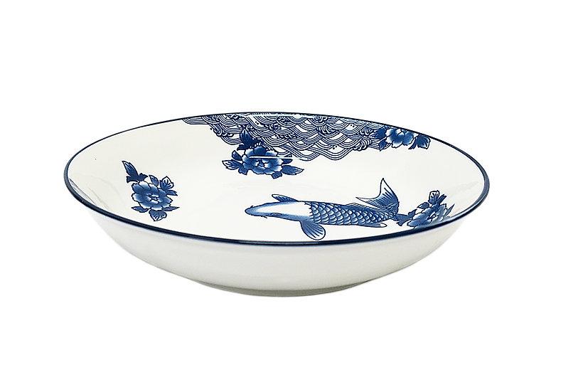 "9""  DEEP PLATE,ITEM#00802913,日常深盤-魚(6 PCS)"